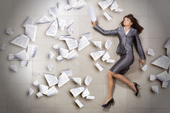 Hurrying businesswoman Royalty Free Stock Image