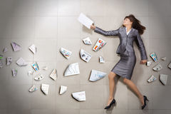 Hurrying businesswoman Stock Images