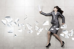 Hurrying businesswoman Stock Image