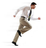 Hurrying man Royalty Free Stock Images