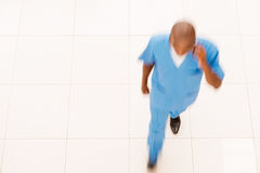 Hurrying surgeon. Stock Image