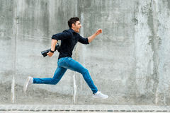 Hurrying to be first. Stock Image