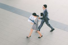 Hurrying to work Royalty Free Stock Images