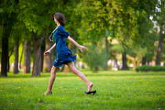 Hurrying woman Royalty Free Stock Photo