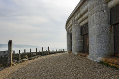 Hurst Castle. On the south coast of Hampshire in England, built by Henry VIII the castle is situated at the end of a long shingle spit which sticks out in to Royalty Free Stock Photography