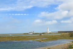 Hurst Point Lighthouse and Hurst Castle Royalty Free Stock Photo