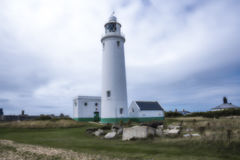 Hurst Point Lighthouse and Hurst Castle Stock Photo