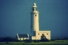 Hurst Point Lighthouse and Hurst Castle Royalty Free Stock Photos