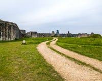 Hurst-Punkt-Schloss Lymington Hampshire Stockfotografie