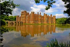 Hurstmonseux castle royal obsevertory sussex Stock Photo