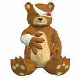 Hurt Bear royalty free stock photos