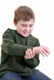 Hurt child Stock Images