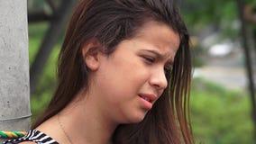 Hurt And Tearful Female Teen stock video
