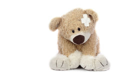 Hurt Teddy Bear Stock Photo