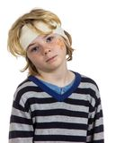 Hurt wounded boy child Royalty Free Stock Photos