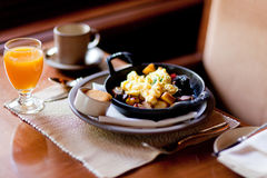 hurtig frukost Royaltyfria Bilder