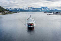 Hurtigruten海运服务在挪威 库存照片