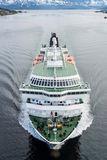 Hurtigruten海运服务在挪威 库存图片