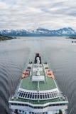 Hurtigruten海运服务在挪威 图库摄影