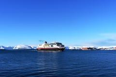 Free Hurtigruten  Approaching Hammerfest Harbor In Norway Royalty Free Stock Photo - 142295805