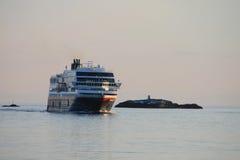 Hurtigruten em Stamsund Fotografia de Stock