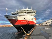 The Hurtigruten-ship MS `Nordkapp` Royalty Free Stock Photos