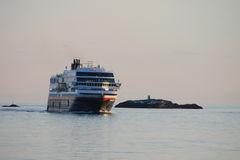 Hurtigruten in Stamsund Stock Photography