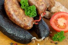 Hurtigt köttuppläggningsfat arkivfoto