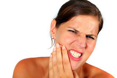 Hurting Teeth Royalty Free Stock Image