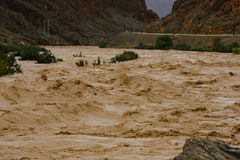 Hurtling river. Small river flood and turn into fall of roll Stock Photo
