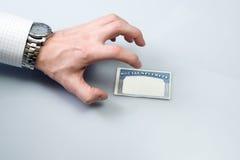 Hurto de identidad con la tarjeta de Seguridad Social Foto de archivo libre de regalías
