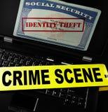 Hurto de identidad en línea Imagen de archivo libre de regalías