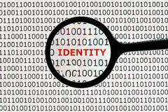 Hurto de identidad en línea Fotografía de archivo libre de regalías