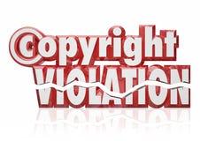 Hurto de la piratería de la infracción de los derechos legales de la violación de Copyright Foto de archivo libre de regalías