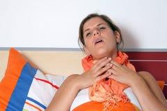 Hurts della gola immagini stock libere da diritti