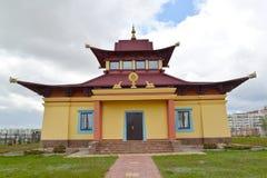 Hurul du centre bouddhiste du karma de Kagyu de tradition Elista, Kalmoukie image libre de droits