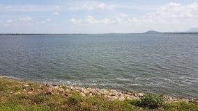 Huruluwawa lake in sri lanka. Most beautiful & valuable historical lake in sri lanaka, near by Habarana royalty free stock image