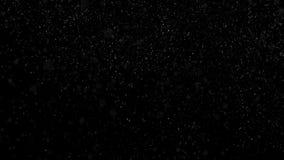 Huruvida bakgrund av snöfall som isoleras på svart För för bruksluma för alfabetisk kanal funktionsläge för matte Sömlös kretsad  vektor illustrationer