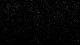 Huruvida bakgrund av snöfall som isoleras på svart För för bruksluma för alfabetisk kanal funktionsläge för matte Sömlös kretsad  royaltyfri illustrationer