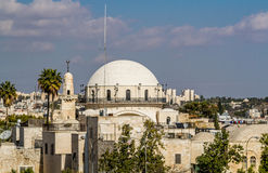 Hurva犹太教堂在耶路撒冷,以色列 库存照片
