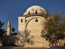 Hurva犹太教堂在耶路撒冷 以色列 库存照片
