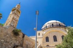 hurva耶路撒冷犹太教堂 库存照片