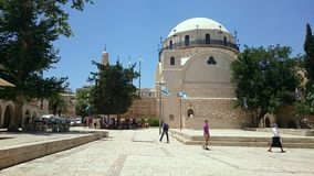 Hurva Square and Synagogue in Jerusalem Stock Photos