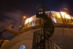 Hurva synagogue at night Royalty Free Stock Image