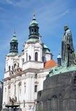 hus布拉格1月尼古拉斯老st城镇 免版税库存照片