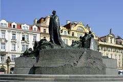Hus纪念品在布拉格-捷克 图库摄影