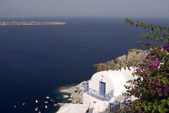 hus över havet Arkivbild