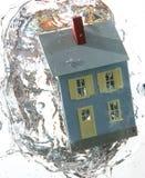 hus 3 under vatten royaltyfria bilder