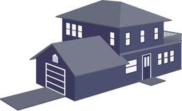 hus 3d Arkivbilder