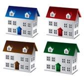 hus 3d stock illustrationer